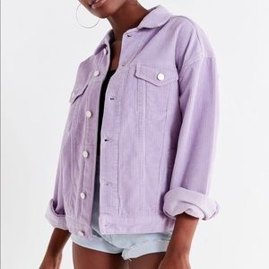BDG Corduroy Jacket Purple Urban Outfitters